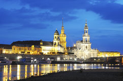 Night Dresden. Night view of the Dresden Elbe shore Royalty Free Stock Photography