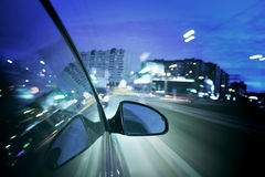 Night drive Stock Photo