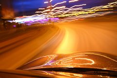 Night drive Royalty Free Stock Photo