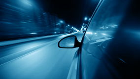 Night drive. By car in city stock video footage
