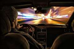 Night drive Royalty Free Stock Photos