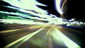 Night drive time lapse, cinema looks, stock footage