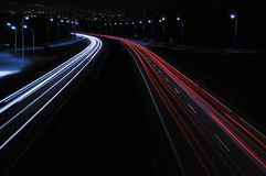 Night driving. Royalty Free Stock Image