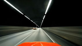 Night driving stock video