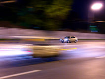 Night driving car Stock Photos