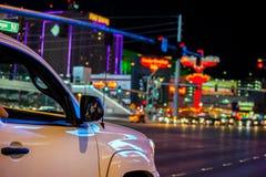 Night driving through Las Vegas Strip Royalty Free Stock Image
