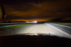Night driving royalty free stock photos