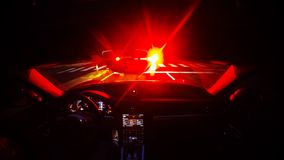 Night Driving time lapse in a fast sports car stock footage