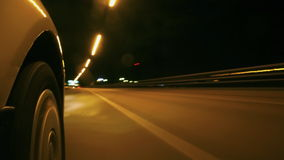 Night driving stock video footage