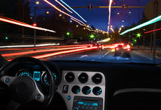 Night driving vision Stock Image