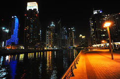 Night in Dubai Royalty Free Stock Images