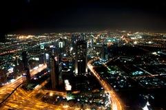 Night at dubai. Night dubai picture taken from the top of burj khalifa Royalty Free Stock Photo