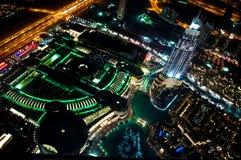Night at dubai. Night dubai picture taken from the top of burj khalifa Stock Photo