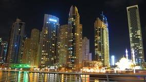 Night at Dubai Marina Royalty Free Stock Photo