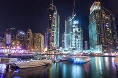 Night at Dubais Marina Stock Photo