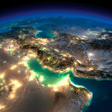 Night Earth. Persian Gulf Royalty Free Stock Photo