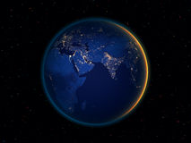 Night earth from space Royalty Free Stock Photos