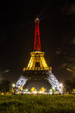 Night Eiffel Tower. Parisian Eiffel tower at night stock photography