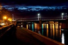 Night embankment Stock Photos
