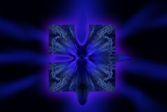 Night enigma. Art work by Photoshop Stock Illustration