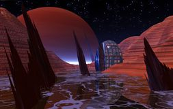 Night on Europa Stock Image
