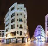Night european street. Madrid, Spain Royalty Free Stock Photo