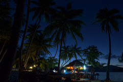 Night event on a tropical Island in Fiji Royalty Free Stock Images