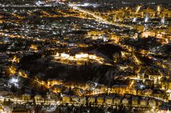 A night exposure over Brasov stock photo
