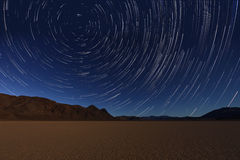 Free Night Exposure Star Trails Of The Sky In Death Valley California Stock Photography - 49527372