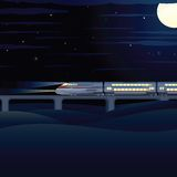 Night Express. Vector Illustration Royalty Free Stock Photos