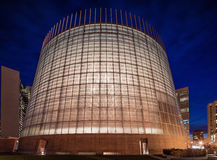 Night Exterior of Oakland Cathedral of Christ the Light. OAKLAND, CALIFORNIA - NOV 5, 2015: The Cathedral of Christ the Light, also called Oakland Cathedral, is stock photography