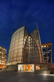 Night Exterior of Oakland Cathedral of Christ the Light Royalty Free Stock Photography