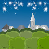 Night fairy tale town Royalty Free Stock Photography