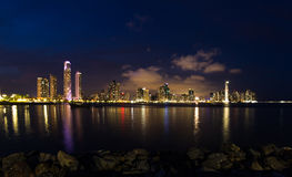 Night fall in Panama City, Panama Stock Photography
