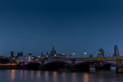 Free Night Falling On St. Paul S Cathedral And The Blackfriars Bridge Royalty Free Stock Images - 77442259