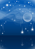 Night falling stars Stock Photo