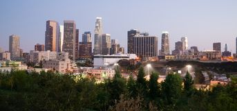 Panoramic View Downtown Urban Landscape Los Angeles California Royalty Free Stock Photography