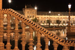 Night at famous Plaza de Espana Royalty Free Stock Photo