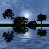 Night fantasy landscape Stock Images