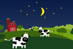 Night on the farm Royalty Free Stock Photos