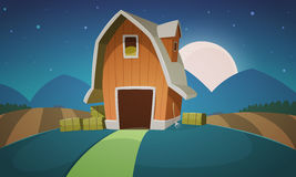 Night Farm Landscape Royalty Free Stock Photo