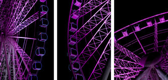 Night Ferris Wheel Stock Images