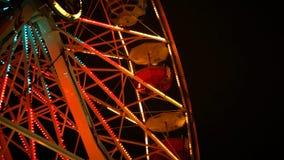 Night on The Ferris Wheel stock footage