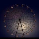 Night Ferris wheel. With illumination Stock Photo