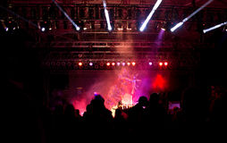 Night Festival Pink Light Stage Royalty Free Stock Photos