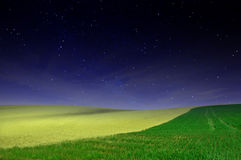 Night field background Royalty Free Stock Photography