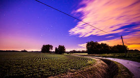 Night in the fields Stock Image