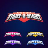 Night fight. Mixed martial arts sport logo on dark background. Royalty Free Stock Photos