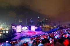 Night finale performance during NDP 2009 Stock Image