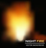 Night fire background vector Royalty Free Stock Photography